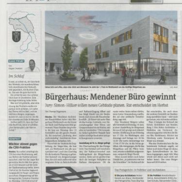 Realisierungswettbewerb der Stadt Menden gewonnen